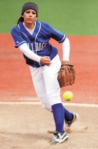 Nathan Mollat / Daily Journal CSM pitcher Lauren Cole has compiled a two-year record of 40-14. This season, she led the Coast Conference with a 1.62 ERA
