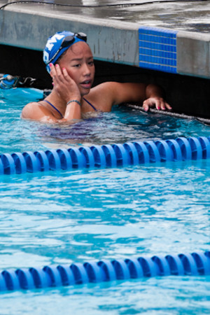 Andrea Chan will compete in the 100-yard butterfly, 500 freestyle, and 200 IM in this week's state championships. - Maggie Wesolowska