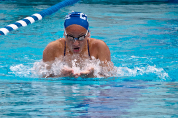 Najelah Najdawi will compete in the 50-yard free style, 50 breaststroke and 100 breaststroke at this week's state championships. - Maggie Wesolowska