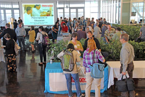 Vendors showed off tools for innovation to boost science and math in the classroom at the College of San Mateo yesterday.