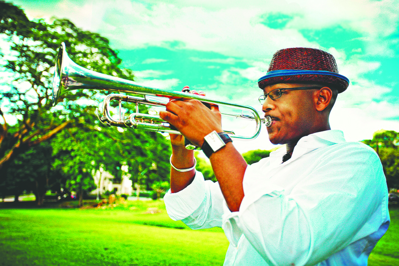 Photos courtesy of Jazz on the Hill Trumpeter Etienne Charles will take the stage at this weekend for Jazz on the Hill at the College of San Mateo campus.