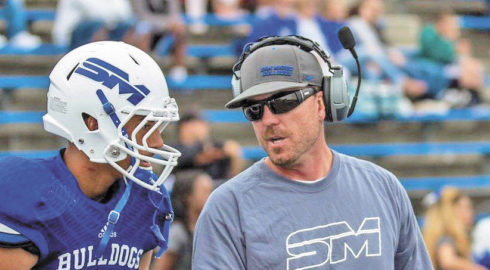 Longtime College of San Mateo football coach Tim Tulloch was named the Bulldogs' new head coach last Friday, taking over for recently retired head coach Larry Owens. Photo by Patrick Nguyen