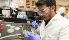 Jordan Chavez in Lab