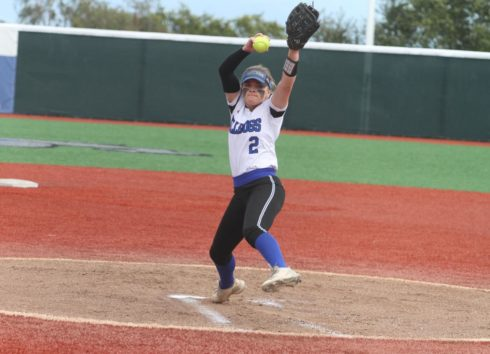 At 30-1, CSM pitcher Emily McAdams is the winningest pitcher in the state and her ERAof 0.75 is second. In her two seasons with the Bulldogs, McAdams has compiled a record of 47-3 with an ERA of 1.38. Photo by Daily Journal.
