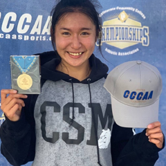CSM runner Yan-Jun (Sophie) Liao
