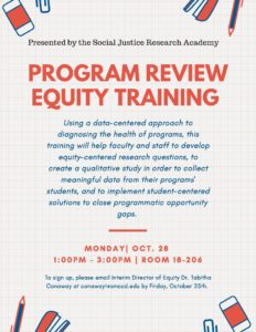 Program Review Equity Training Flyer