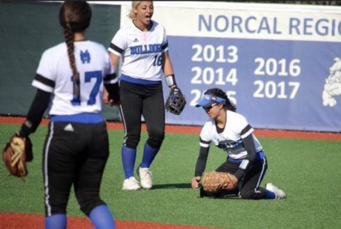 After redshirting at UCLA and transferring, Shea Moreno (16) found her stride at the College of San Mateo. Moreno signed with Mississippi State on April 17. Photo Courtesy of Shea Moreno.