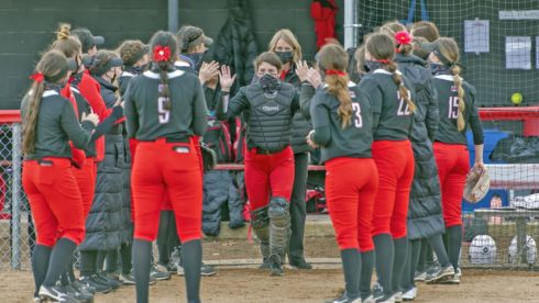 Southern Oregon University catcher Allie Stines earned a Cascade Collegiate Conference Gold Glove this season in addition to leading all NAIA hitters in the nation with 31 doubles.