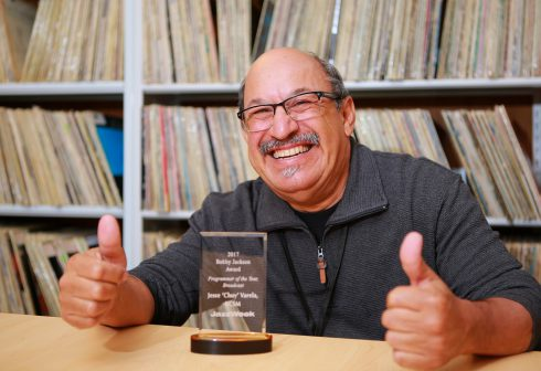 KCSM Music Driector and 2017 JazzWeek Programmer of the Year Chuy Varela