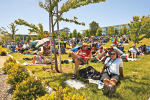 Concert-goers enjoy last year's Jazz on the Hill at College of San Mateo. Photo by Curtis Anderson