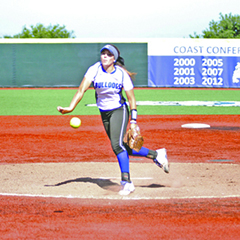 CSM's Samantha Dean hurled a one-hitter as the Bulldogs closed the regular season with a 6-0 win over SanJose.